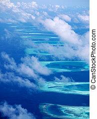 Ari Atoll, Maldives - East edge of the Ari Atoll, Maldives