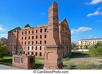 Destroyed building - Mill destroyed during ww2 - part of...
