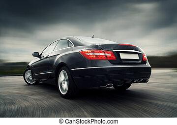 car, dirigindo, rapidamente