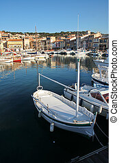 harbor with yachts in Cassis, France