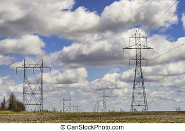 Power Towers and Lines - A picture of what seems to be an...