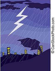 Night_thunder-storm7jpg - Rain, thunder-storm over a night...