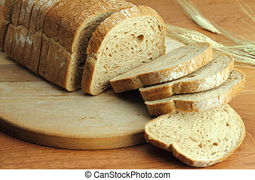 Loaf of fresh sliced bread - Loaf of fresh sliced bread