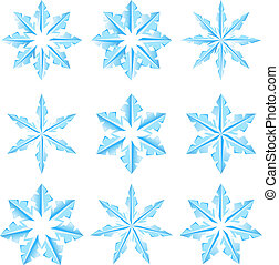 Set of snowflakes on a white background. Illustratin for...