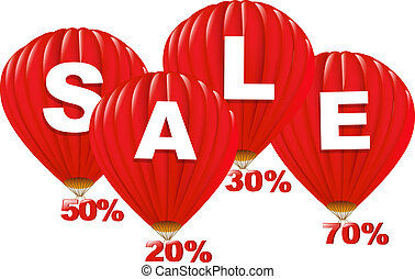 Sale Red Hot Air Balloons