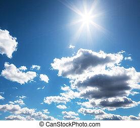 sole, nubi, cielo