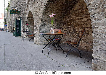 Tallinn. Old city. Old streets of Tallinn.Estonia.