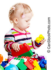 Baby girl playing - Little baby girl playing with balls...