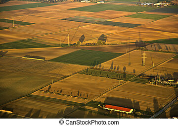 rural landscape with fields - rural landscape with acre from...