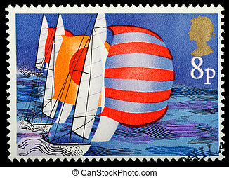 British Sailing Postage Stamp - UNITED KINGDOM - CIRCA 1975...