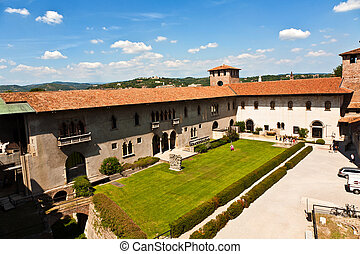 inside the Castelveggio in verona - view inside the...