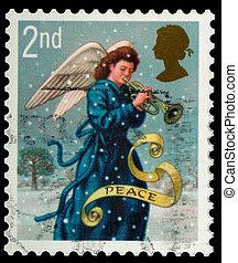 Christmas Postage Stamp - UNITED KINGDOM - CIRCA 2007: A...