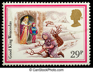 Christmas Postage Stamp - UNITED KINGDOM - CIRCA 1982: A...