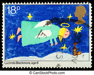 Christmas Postage Stamp - UNITED KINGDOM - CIRCA 1981: A...