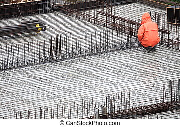 worker in construction building