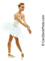 Prima ballerina - Portrait of charming ballerina performing...