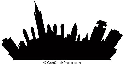 Cartoon Ottawa - Cartoon skyline silhouette of Ottawa,...