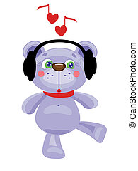 Bear in the headphones