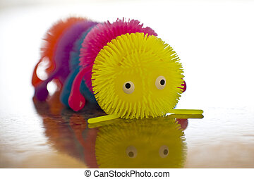 Soft Toy - Soft toy caterpillar close up