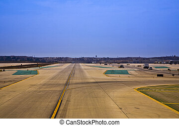 runway at the airport in Los Angeles
