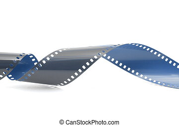 film strip in front of a white background...