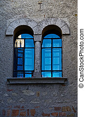 Arched Windows Turquoise Reflection