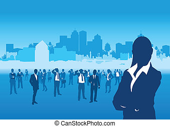 business people cityscape