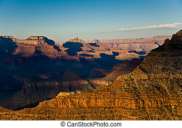 colorful Sunset at Grand Canyon seen from Mathers Point,...