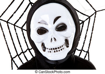 Scary skull mask - person with scary skull mask for...