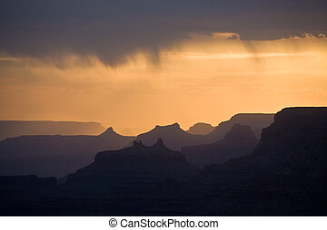 beautiful sunset at desert view point in the Great Canyon