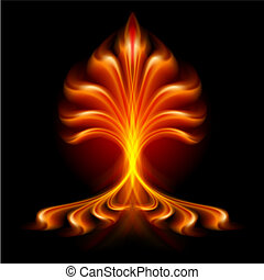 Fire flower - Raster version. Fire flower. Illustration...