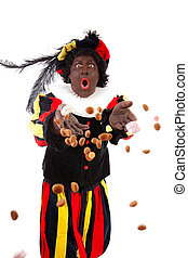 Zwarte piet black pete typical Dutch character part of a...