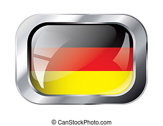 germany shiny button flag vector illustration. Isolated abstract object against white background.