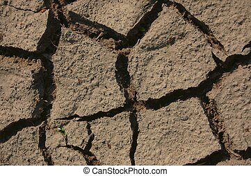 dry soil - a shot of dry soil on the ground...