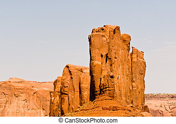 famous scenic Butte in Monument Valley - Camel Butte is a...