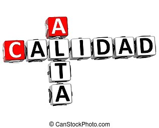 3D Alta Calidad Crossword on white background