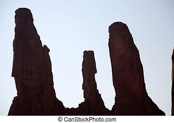 famous scenic Butte in Monument Valley - famous sandstone...
