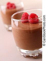 chocolate mousse - glass of chocolate mousse
