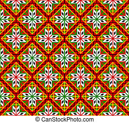 Norsk seamless pattern - Norwegian seamless traditional...
