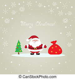 Santa Claus Christmas card - Christmas card with Santa...