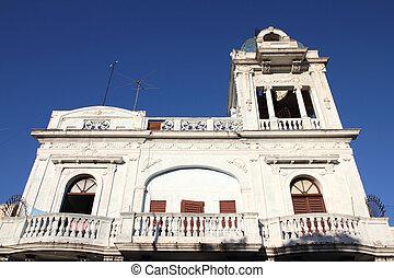 Cuba - Cienfuegos - Old building in Cienfuegos, Cuba. The...
