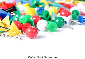 fäster ihop, papper, Närbild,  multi-colored