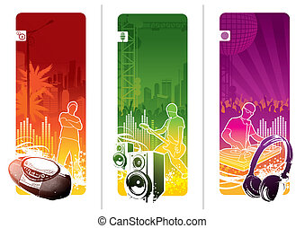 Vector banners - Urban musical youth culture