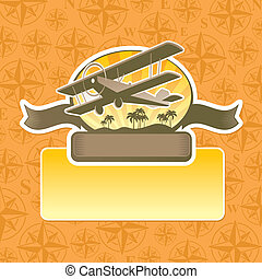 Vector adventure and travel emblem
