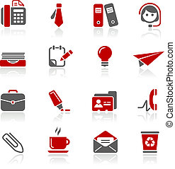 Office and Business Icons Redico - Vector icons for your...