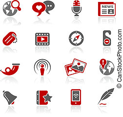 Blog and New Media Redico - Vector icons for your website or...