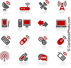 Wireless and Communications Redico - Vector icons for your...