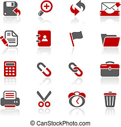 Web Interface Redico - Vector icons for your website or...