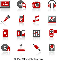 Media and Entertainment Redico - Vector icons for your...