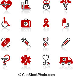 Medicine and Heath Care Redico - Vector icons for your...